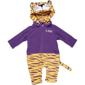 LSU Tigers NCAA Newborn Mascot Fleece Outfit