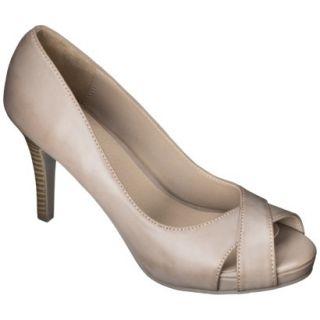 Womens Xhilaration Angela Peep Toe Pump   Blush 8.5