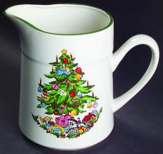 International Noel (Band 1/4 From Edge) 64 Oz Pitcher, Fine China Dinnerware