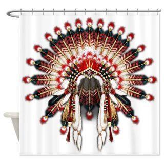 CafePress Native War Bonnet 03 Shower Curtain Free Shipping! Use code FREECART at Checkout!