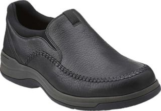 Mens Clarks Portland2 Easy   Black Leather Casual Shoes
