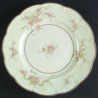 Haviland Rosalinde (France,Lutece Shape) Dinner Plate, Fine China Dinnerware   F