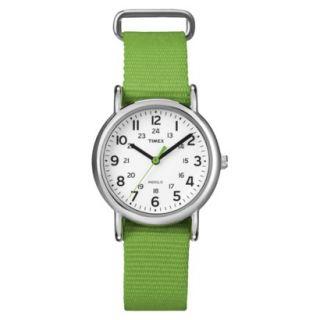 Timex Midsize Weekender Slip Through Strap Watch   Green