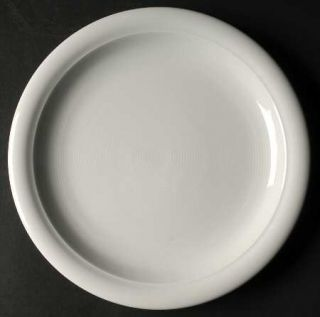 Thomas Trend White Dinner Plate, Fine China Dinnerware   All White, Concentric R