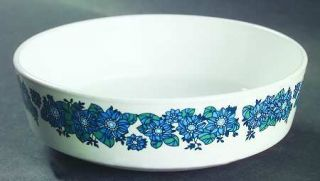 Corning Evening Song Coupe Cereal Bowl, Fine China Dinnerware   Centura, Blue/Gr