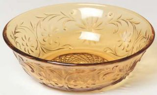 Indiana Glass Daisy Amber Small Fruit/Dessert Bowl   Amber, Glassware 40S 60S
