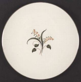 Edwin Knowles Forsythia Dinner Plate, Fine China Dinnerware   Yellow Flowers,Gre