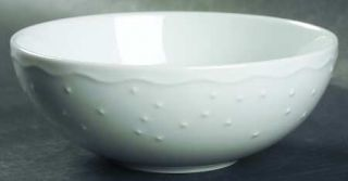 Crate & Barrel Water Music Coupe Cereal Bowl, Fine China Dinnerware   All White,