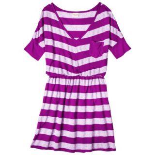 Mossimo Supply Co. Juniors V Neck Elbow Sleeve Dress   Violet M(7 9)