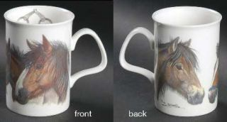 Roy Kirkham Horses Head Mug, Fine China Dinnerware   Various Horse Heads,Stirrup