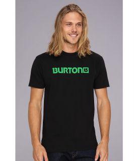 Burton Logo Horizontal S/S Tee Mens Short Sleeve Pullover (Black)