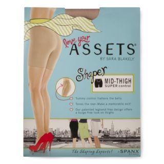 ASSETS by Sara Blakely Womens Mid Thigh Shaper 870B   Tan 1