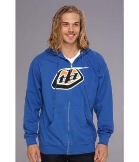 Troy Lee Designs Classic Logo Zip Hoodie Mens Sweatshirt (Navy)