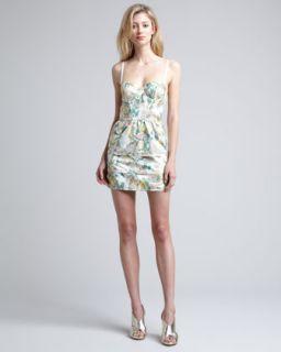 Daphne Tiered Skirt Dress   Alice + Olivia