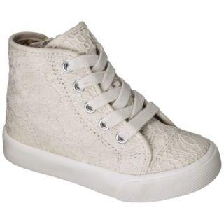 Toddler Girls Circo Jolie Crochet High Top Sneaker   White 9
