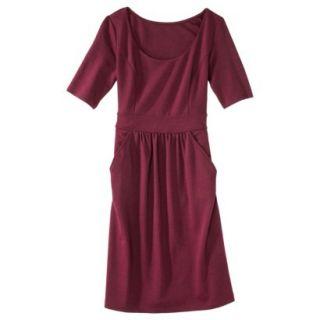 Merona Womens Ponte Elbow Sleeve Dress w/Pockets   Berry Cobbler   L