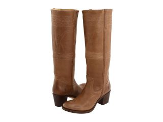 Frye Jane Stitching Horse Womens Pull on Boots (Taupe)