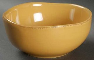 Pier 1 Elemental Honey Soup/Cereal Bowl, Fine China Dinnerware   Honey,Handpaint