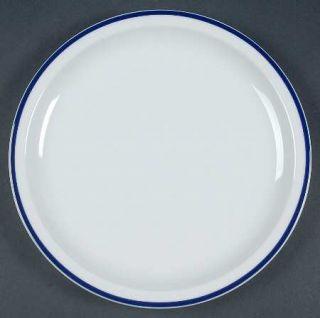 Oneida Toms Diner Blue Dinner Plate, Fine China Dinnerware   White With Blue Edg