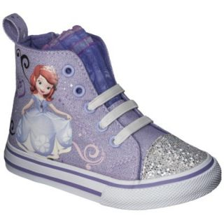 Toddler Girls Sophia The First High Top Sneaker   Purple 9
