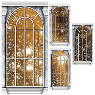 Gold Star Window Standee Panel Set