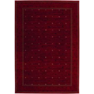 Everest Gridiron/ Crimson Rug (53 X 76) (CrimsonSecondary colors: Black, rose rud, sage, sahara tanPattern: GeometricTip: We recommend the use of a non skid pad to keep the rug in place on smooth surfaces.All rug sizes are approximate. Due to the differen