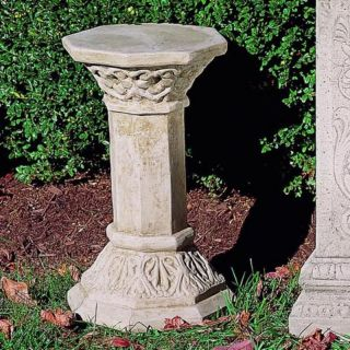 Campania International Octagonal Cast Stone Pedestal For Urns and Statues