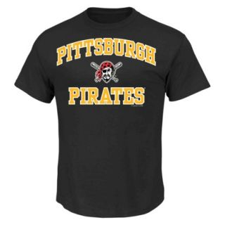 MLB Mens Pittsburgh Pirates T Shirt   Black (S)