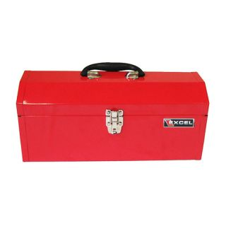 Excel 17 in. Red Portable Lift out Tray Steel Tool Box   TB137 RED