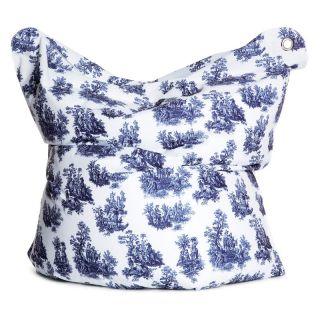 Bull Designs LLC THE BULL Large Fashion Bean Bag Chair   Toile de Jouy