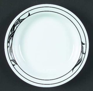 Corning Lyrics Black Rim Soup Bowl, Fine China Dinnerware   Corelle, Black Leave