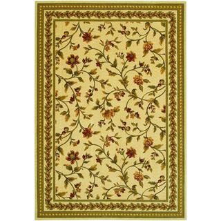 Royal Luxury Winslow/linen beige Rug (47 X 66) (Linen beigeSecondary colors: Bay leaf, beige, bordeaux, cr??me caramel, ebony, rose bud, sagePattern: FloralTip: We recommend the use of a non skid pad to keep the rug in place on smooth surfaces.All rug siz