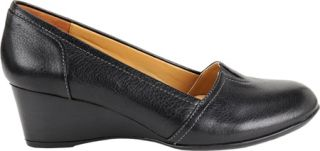 Womens Softspots Marsha   Black Leather Casual Shoes