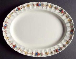 Spode Hazel Dell (White) 13 Oval Serving Platter, Fine China Dinnerware   White