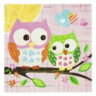 Oopsy Daisy too Love n Nature Owl Pair Wall Art   21x21