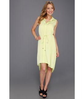 Kenneth Cole New York Emilie Sleeveless Shirtdress Womens Dress (Green)