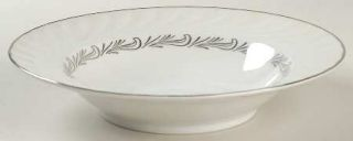 Royal Jackson Reverie Rim Soup Bowl, Fine China Dinnerware   Swirl Rim,Platinum
