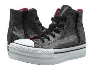 Converse Kids Chuck Taylor All Star Platform Zip Hi ) Girls Shoes (Black)