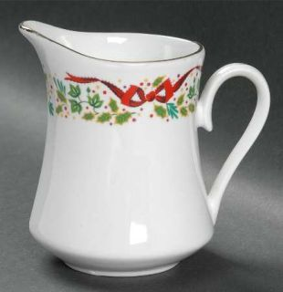 Domestications Twelve Days Of Christmas Creamer, Fine China Dinnerware   Bows &