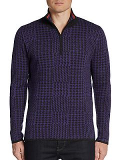 Anak Houndstooth Cashmere Pullover   Purple