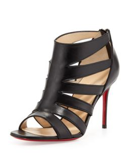 Beauty K Red Sole Cage Sandal, Black   Christian Louboutin