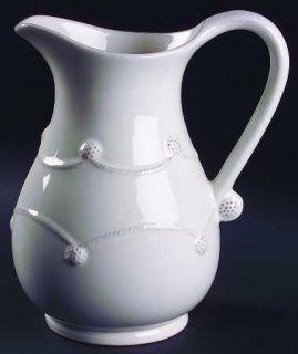 Juliska Ceramics Berry & Thread Whitewash 84 Oz Pitcher, Fine China Dinnerware