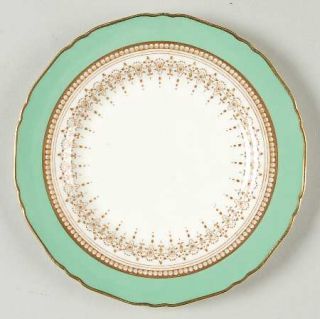Royal Worcester Regency Green & Brown (Older) Bread & Butter Plate, Fine China D