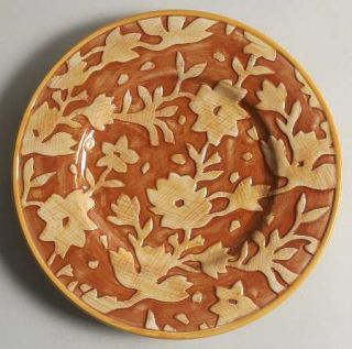 Fitz & Floyd Del Vino Flowers Salad/Dessert Plate, Fine China Dinnerware   Del V