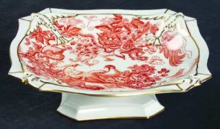 Royal Crown Derby Red Aves (Older, Discontinued 1997) Dolphin Tray, Fine China D