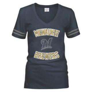 MLB Womens Milwaukee Brewers T Shirt   Grey (S)