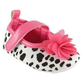 Luvable Friends Infant Girls Spotted Mary Jane Shoe   Black/Pink 12 18 M