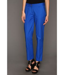 MICHAEL Michael Kors Stretch Cotton Sexy Skinny Ankle Womens Casual Pants (Blue)