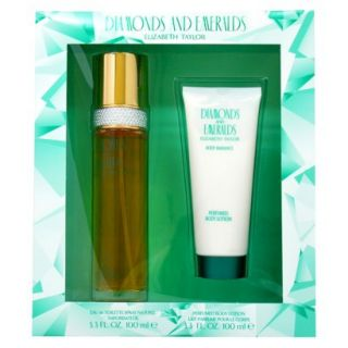 Womens Diamonds and Emeralds by Elizabeth Taylor   2 pc Gift Set