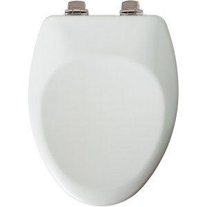 Church 885NISL 000 Universal Elongated Closed Front Toilet Seat
